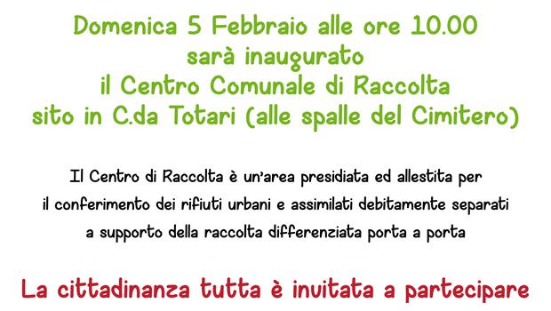 Latiano. Domenica 5 febbraio si inaugura il nuovo Centro Comunale di Raccolta