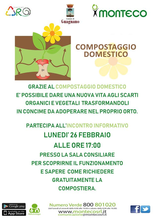 Lunedì 26 febbraio alle ore 17.00 si terrà un incontro sul compostaggio domestico presso la sala consiliare